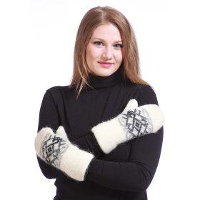 Варежки женские вязаные из Исландской шерсти 08427-75