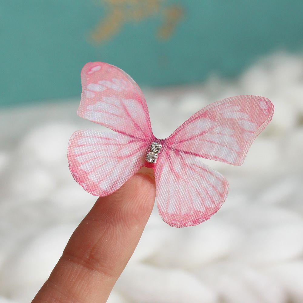 Аксессуар для кукол - бабочка розовая, 4.5 см