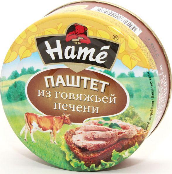 Паштет ХАМЕ 105г говяжья печень ж/б