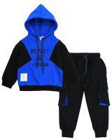"Спортивный костюм для мальчиков 3-7 лет Bonito ""Be fast & strong"" синий"