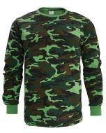 """Лонгслив для мужчин 48-56  BR002 """"Camouflage forest"""" зеленый"""