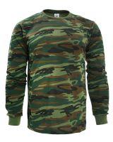 """Лонгслив для мужчин 48-56  BR002 """"Camouflage"""" хаки"""