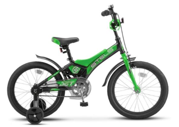 Детский велосипед STELS Jet 16 Z010 Черный/зелёный
