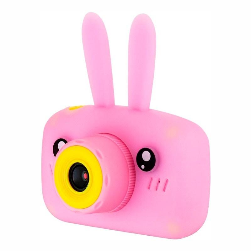 Детский цифровой фотоаппарат с селфи камерой, Зайчик