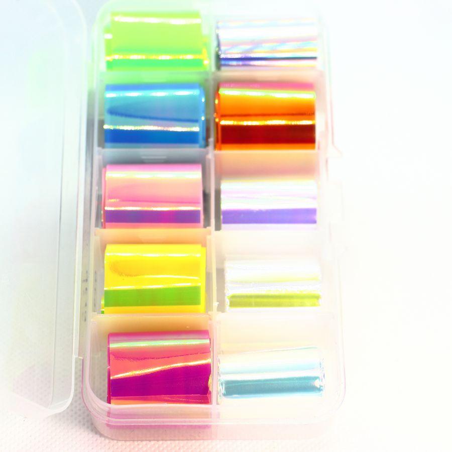 Фольга цветная 10 шт. набор 4649