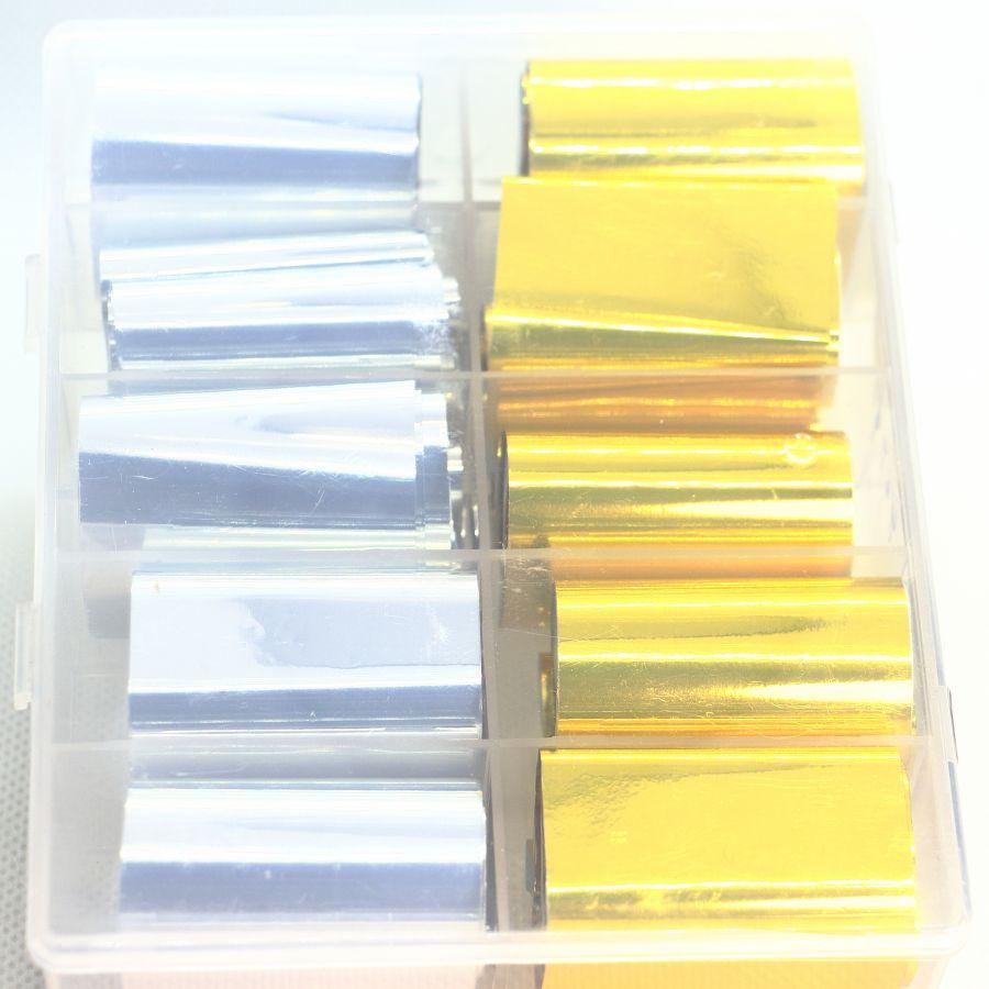 Фольга цветная 10 шт. набор 4646