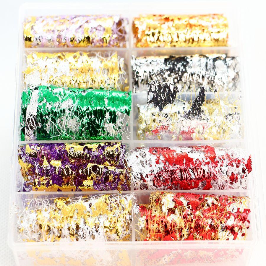 Фольга цветная на сетке 10 шт. набор 4650