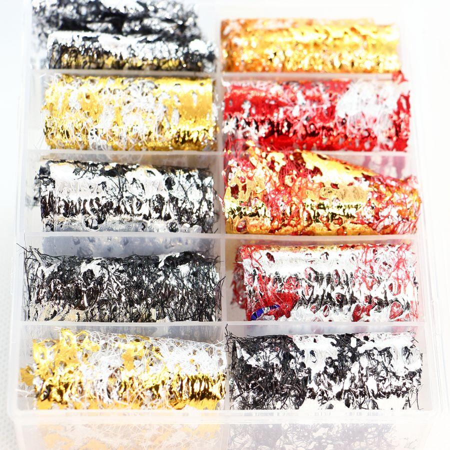 Фольга цветная на сетке 10 шт. набор 4653