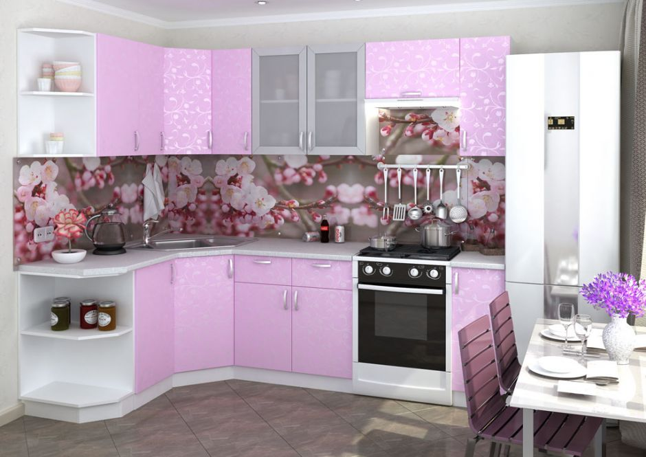 Кухня угловая Дина (вариант 3)