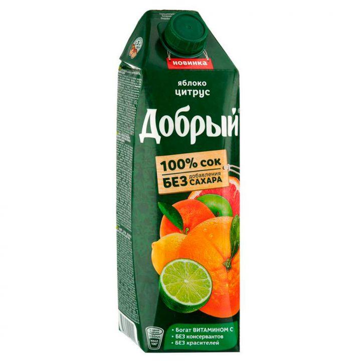 Сок Добрый 1л Яблоко/Апельсин/Мандарин