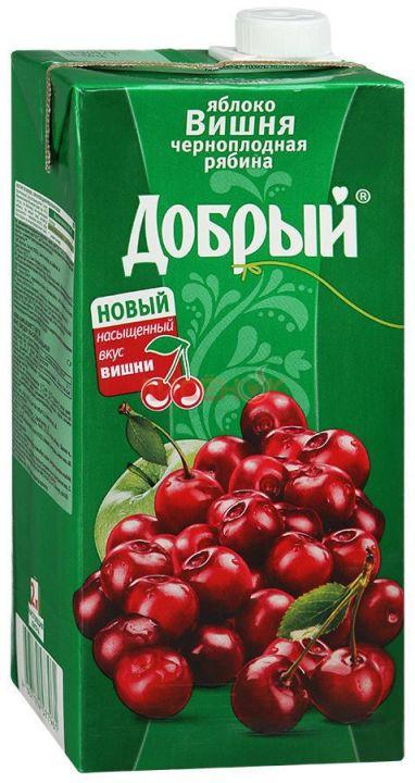 Нектар Добрый 2л Яблоко/рябина/вишня