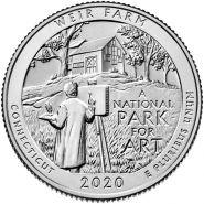 52 ПАРК США - 25 центов 2020 год, Национальное историческое место Ферма Дж.А. Вейра