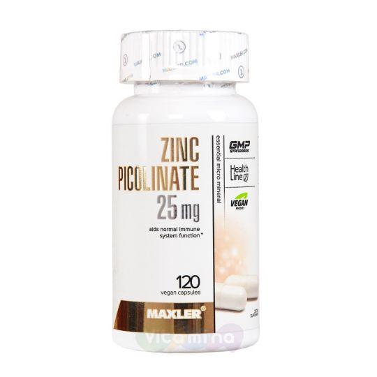 Maxler Пиколинат цинка Zinc Picolinate, 25 мг, 120 капс