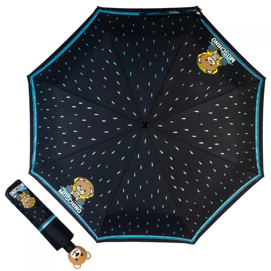 Зонт складной Moschino 8058-OCA Bear in the rain Black