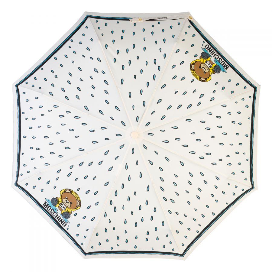 Зонт складной Moschino 8058-OCA Bear in the rain Cream