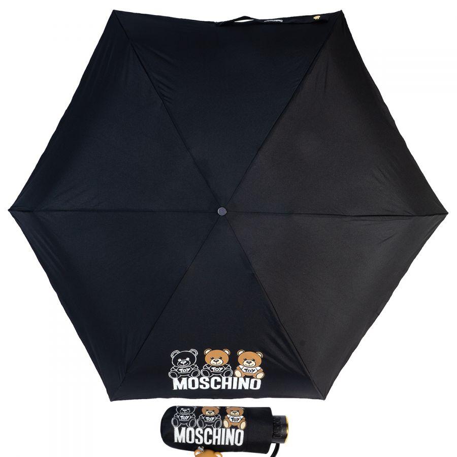 Зонт складной Moschino 8061-SuperminiA Bear Scribbles Black