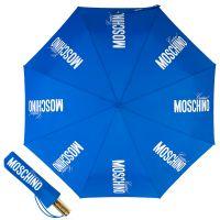 Зонт складной Moschino 8730-OCA Couture Gold Blue