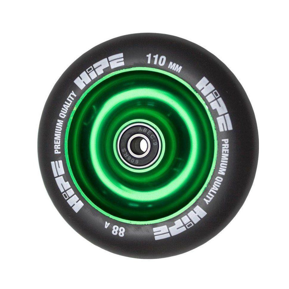 Колесо HIPE Solid 110 мм зеленый/черный