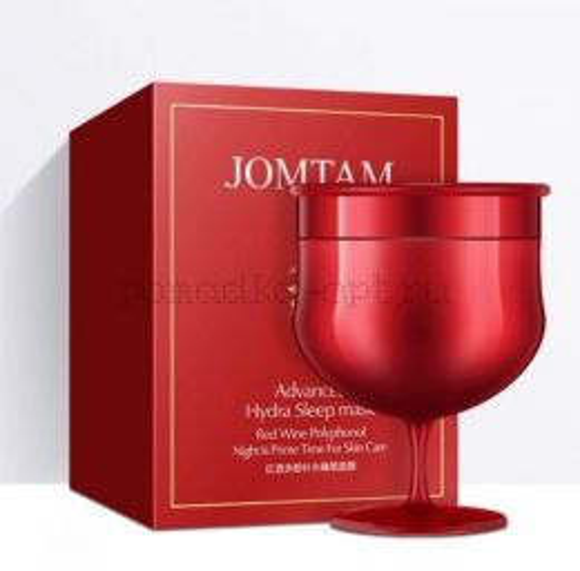 оригинал Несмываемая ночная маска-гель JOMTAM с экстрактом красного вина