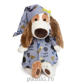 Бартоломей в голубой пижаме в цветочки 27см