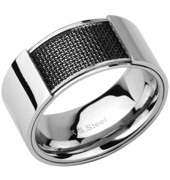Мужское кольцо стальное