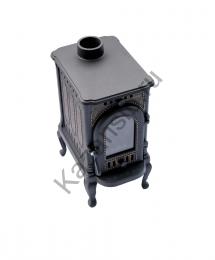 Печь-камин «Сибирь-6» (чугунная со стеклом)