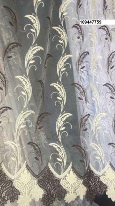 Тюль вышивка на сетке Турция 759