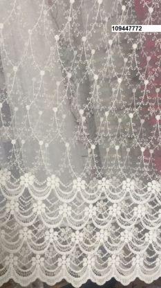 Тюль вышивка на сетке Турция 772