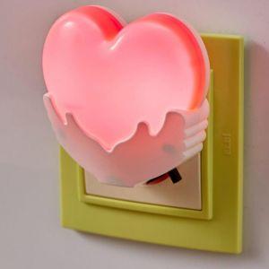 "Ночник ""Сердце"" LED от сети МИКС 4х7х7 см   5091644"