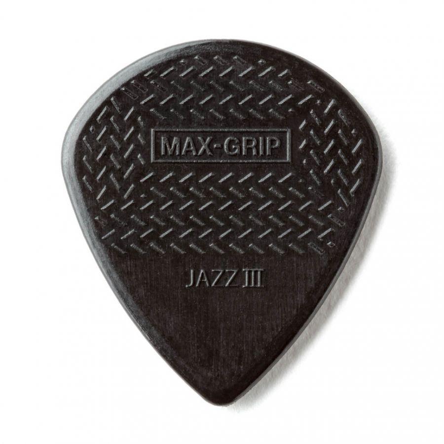 DUNLOP 471P3S Max-Grip Nylon Jazz III Медиатор 1.38мм