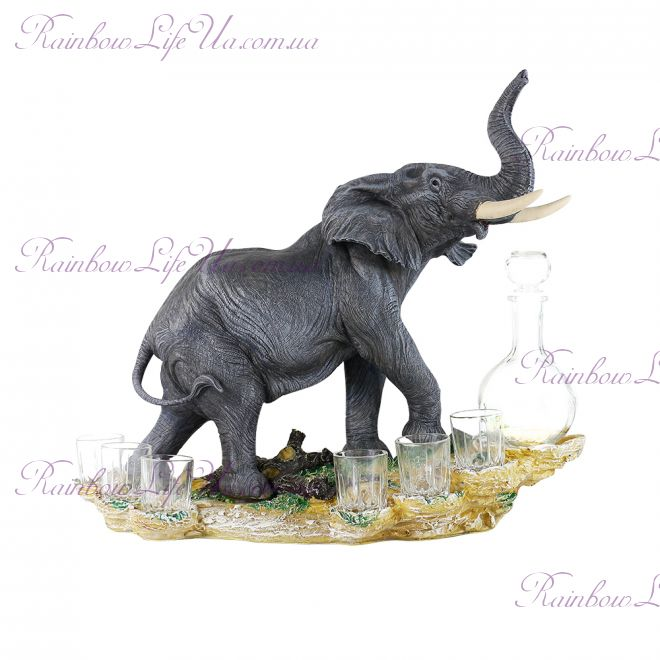 "Штоф ""Слон"" с графином и рюмками"