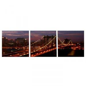 """Модульная картина """"Золотой мост"""" (3-35х35) 35х105 см 4983620"""