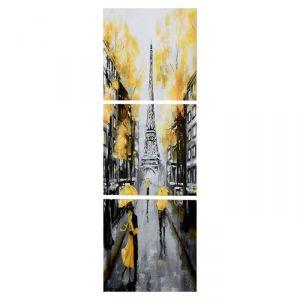 """Модульная картина """"Осенний Париж"""" (3-35х35) 35х105 см 4983644"""