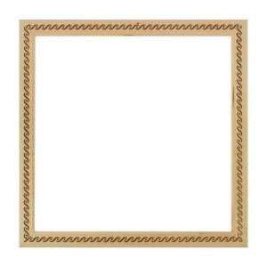 Рама для зеркал и картин, дерево, 35 х 35 х 3.0 см, липа, «Косичка», горячее тиснение