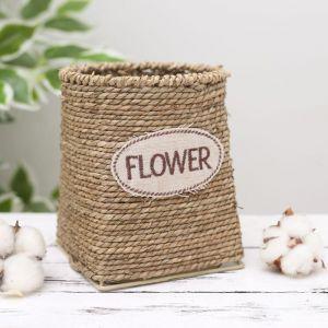 Кашпо плетёное круглое Flower, 12?12?15 см