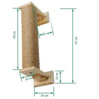 Размеры когтеточки настенной