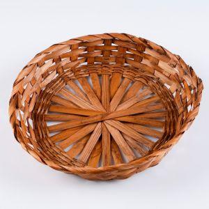 Плошка плетеная ( бамбук), D26xH4,6 коричневый 1962882