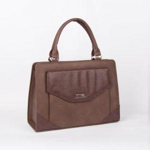Сумка женская, отдел на молнии, длинный ремень, 2 наружных кармана, цвет коричневый