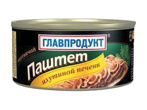 Паштет Главпродукт 315г Охотничий утин/печень ж/б