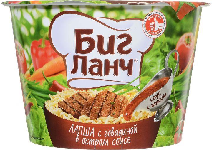 Лапша Биг-Ланч говядина в остром соусе 90г