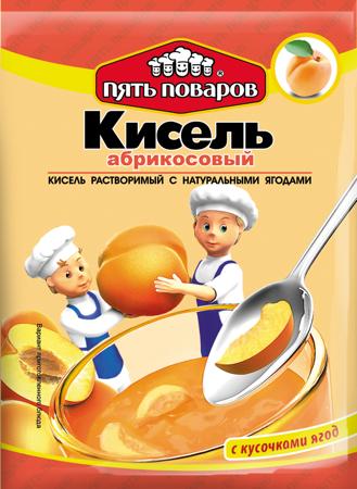 Кисель абрикосовый 90г 5 поваров