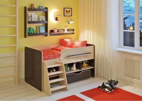 Детская кровать Легенда 6 с полками