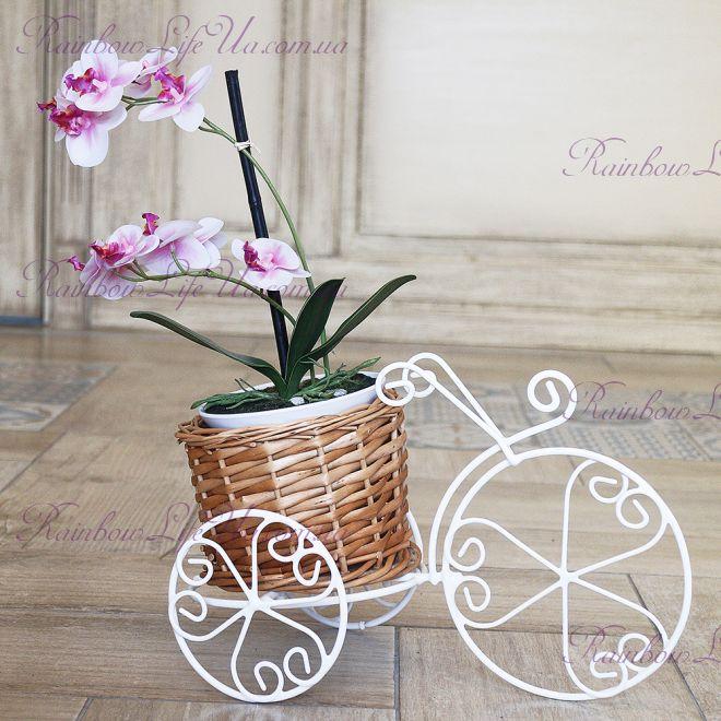 """Кашпо под вазон """"Велосипед с корзиной"""""""