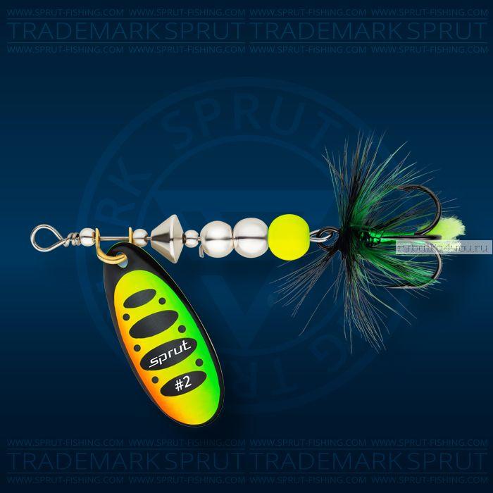 Блесна вращающаяся Sprut Caspia Spinner №3 / 7 гр / цвет: FT