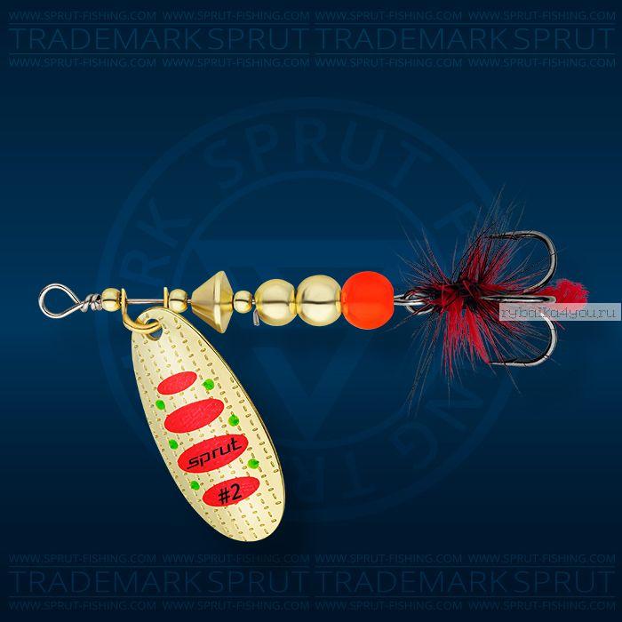 Блесна вращающаяся Sprut Caspia Spinner №3 / 7 гр / цвет: GR