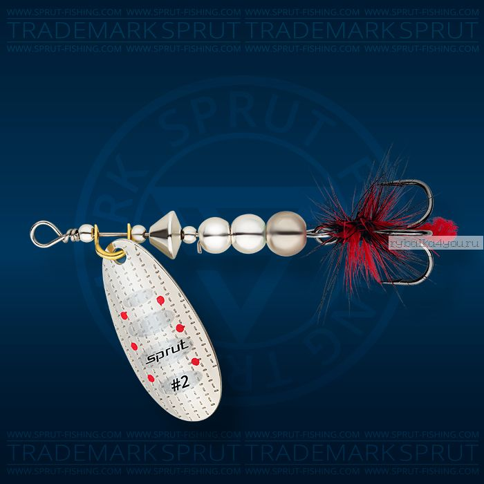 Блесна вращающаяся Sprut Caspia Spinner №3 / 7 гр / цвет: S