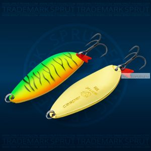 Блесна колеблющаяся Sprut Casper Spoon 78мм/33 гр / цвет: FT