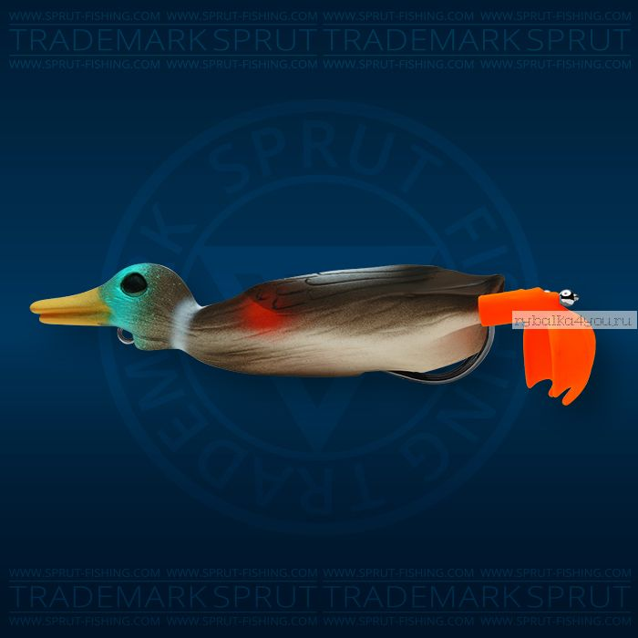 Воблер Sprut Duck Shot 100TW 100мм/16,5 гр / цвет: DR