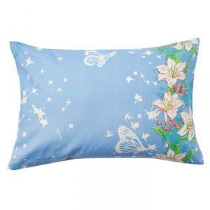Наволочка Экономь и Я «Цветочный рай», цвет голубой, размер 50х70 см, бязь