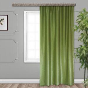 Штора портьерная Тергалет 140х260 см, зелёный, 100% п/э